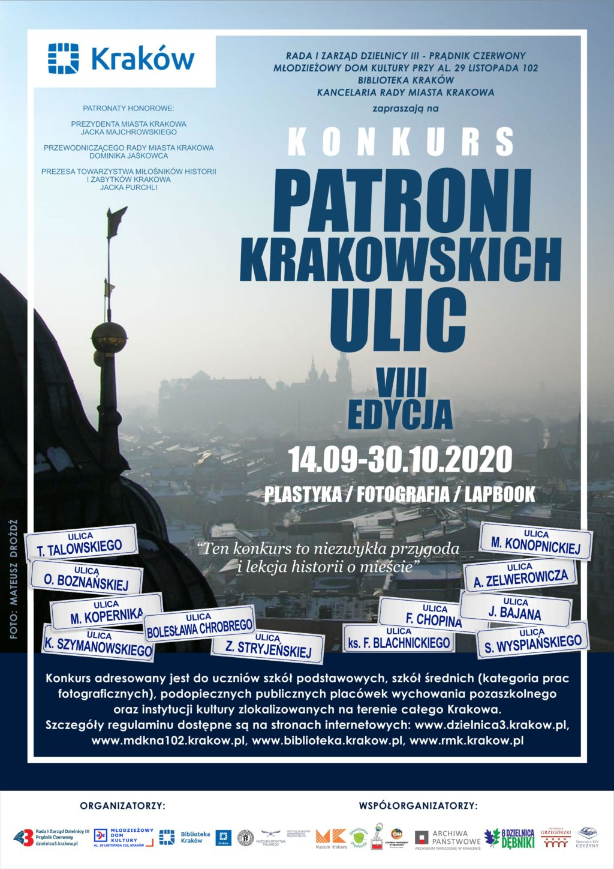 Plakat Patroni Krakowskich Ulic