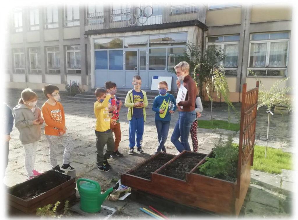 Sadzenie roślin z dziećmi