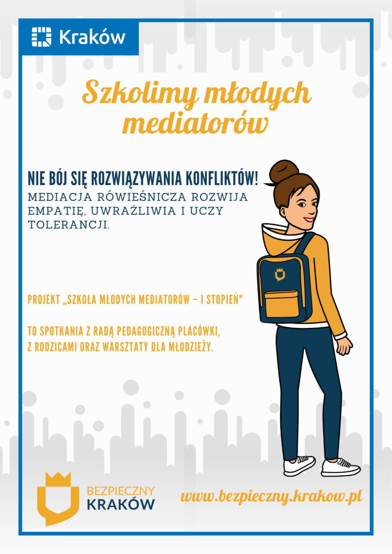 Plakat - szkoła młodych mediatorów