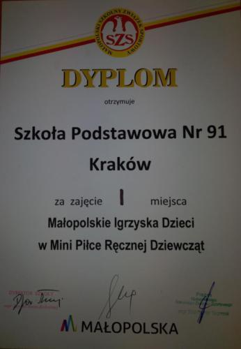 Finał Wojewódzki Igrzysk Młodzieży Szkolnej w piłce ręcznej dziewcząt2019