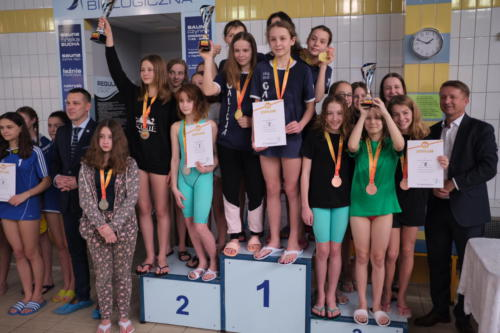 Pływacy w barwach SP91